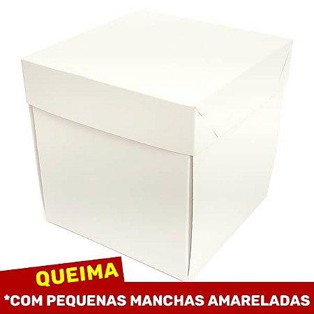 TR-8 Lisa Branca (8.5 cm) Embalagem de Papel Tampa e Fundo 10 peças