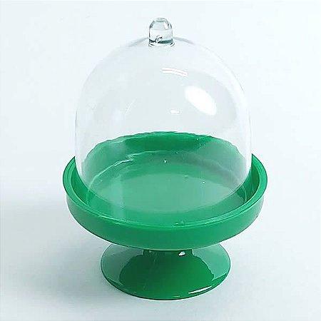 Redoma para Doces Mini Cúpula Verde Escuro 10unid Festas