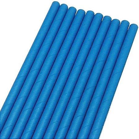 Canudo de Papel Liso Azul Ref.9953 BWB 20unids