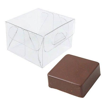 PX-201 Caixa para Pão de Mel (6x6x4) cm 10und Caixa de Acetato