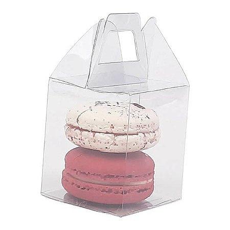 PX-41 Caixa Maleta para Artesanato e 2 Macaron (5x5x6) cm 10und Embalagem para Miniaturas
