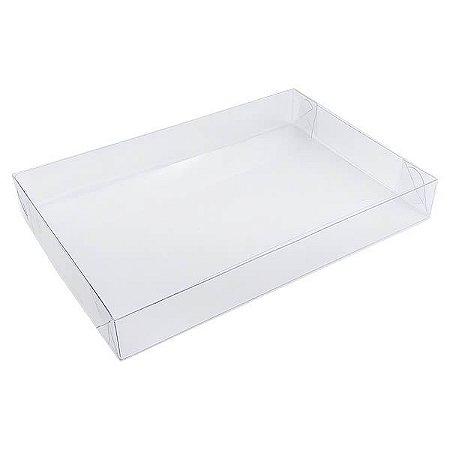 P-2 (19 X 13 X 2.5 cm) Caixa Plástico Tampa e Fundo 10unids