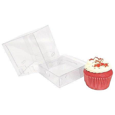 KIT Caixa para 1 Cupcake Grande (10x10x10 cm) Caixa e Berço KIT23 10unids Caixa de Acetato