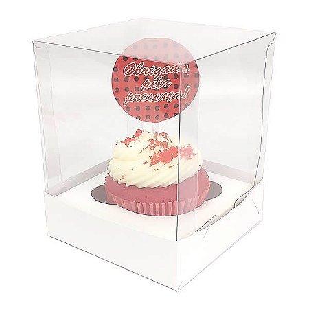 Caixa para 1 Cupcake Grande (10x10x10 cm) KIT13 10unid