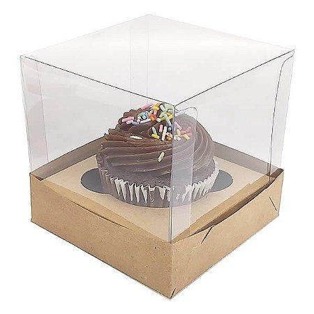 Caixa para 1 Cupcake Grande (10x10x10 cm) KIT52 10unid
