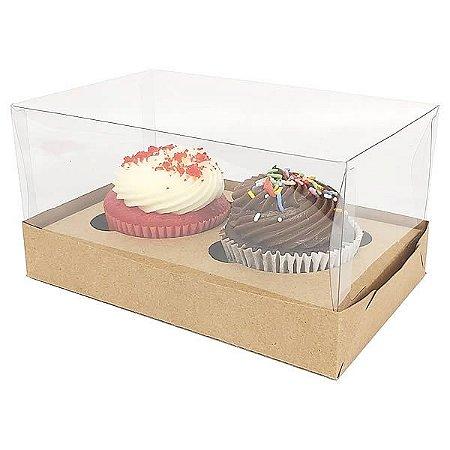 Caixa para 2 Cupcakes Grandes (17,6x11x9 cm) KIT54 10unid