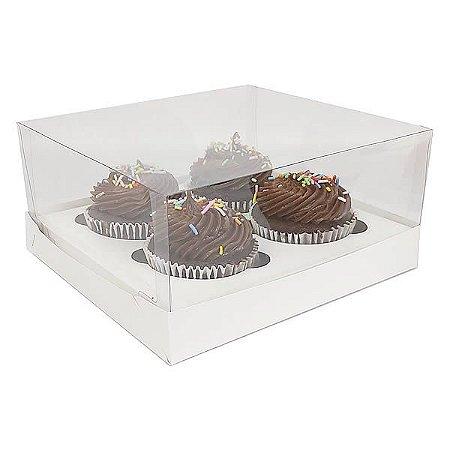 Caixa para 4 Cupcakes Grandes (19x17.5x9 cm) KIT16 10unid