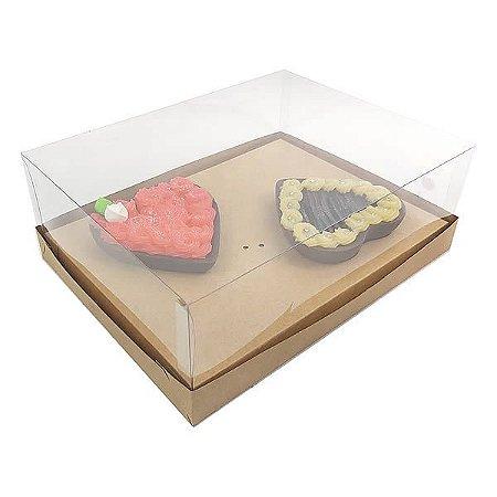 Caixa Coração 200g para Forma 45 BWB (25x19x9 cm) KIT57 Embalagem Ovo de Colher 10unids