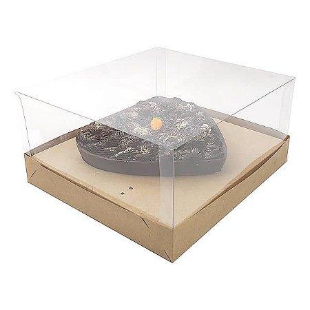 KIT Caixa Coração 500g para Forma 46 BWB (19x17,5x9 cm) Caixa e Berço KIT59 Embalagem Ovo de Colher 10unids