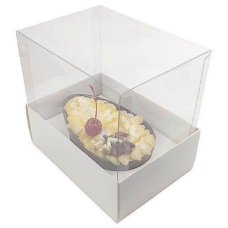KIT Caixa Ovo de Colher Páscoa 350g (16x11,5x15  cm) Caixa e Berço KIT40 Embalagem Ovo de Colher 10unids