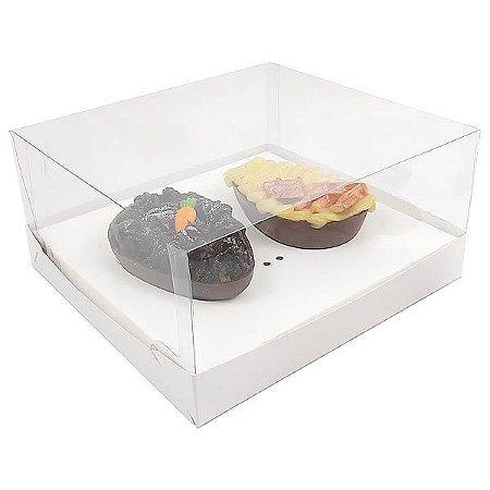 KIT Caixa Ovo de Colher Páscoa 100g (19x17,5x9 cm) Caixa e Berço KIT78 Embalagem Ovo de Colher 10unids