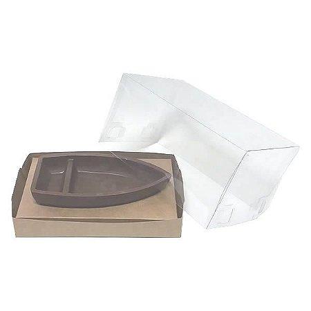 Caixa para Barca G Chocolate (17,6x11x9 cm) KIT97 10unids Caixa de Acetato