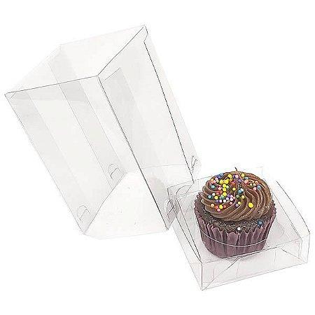 Caixa Plástica para 1 Cupcake Pequeno (6x6x9,5 cm) KIT117 10unid Caixa de Acetato