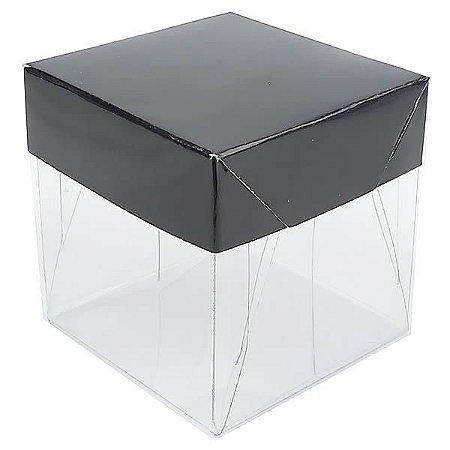 Caixa de Acetato com Base Preta Lisa 10unid