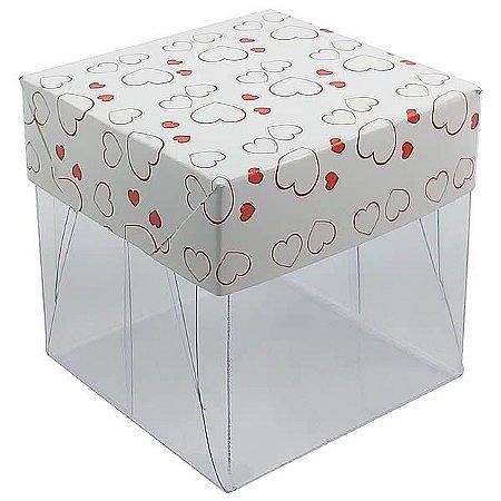 Caixa de Acetato com Base Coração 10unid