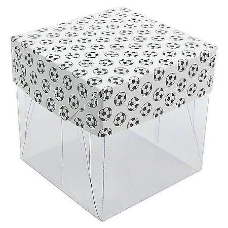 Caixa de Acetato com Base Futebol 10unid