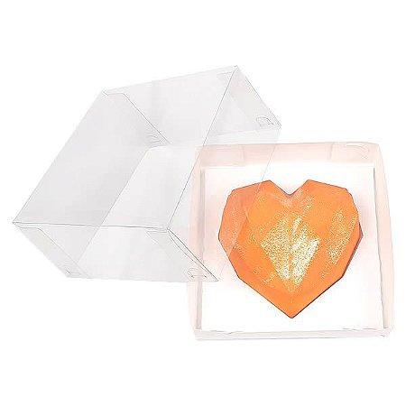 Caixa (12x12x6 cm) Embalagem para Meio Coração Lapidado 200g Ref.9837 KIT118 10unid