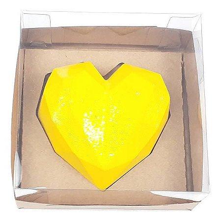 Caixa (12x12x6 cm) Embalagem para Meio Coração Lapidado 200g Ref.9837 KIT119 10unids Caixa de Acetato