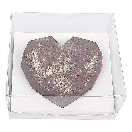 Caixa (19x17.5x9 cm) Embalagem para Meio Coração Lapidado 500g Ref.9838 inclinado em 45graus KIT122 10unid