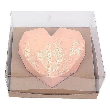 Caixa (19x17.5x9 cm) Embalagem para Meio Coração Lapidado 500g Ref.9838 inclinado em 45graus KIT123 10unid