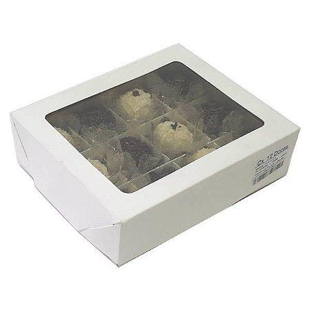 Caixa 12 Divisórias (Branca) (15x12x4 cm) 10unid Docinho com Colméia