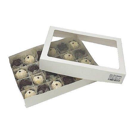 Caixa 24 Divisórias (Branca) (22x16x4 cm) 10unid Caixinha Docinhos
