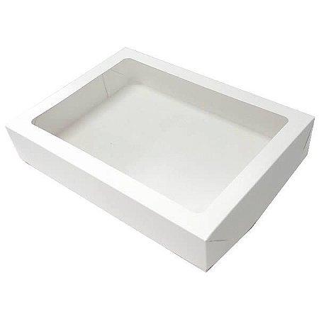 Caixa 24 Visor (Branca) (22x16x4 cm) 10unid Embalagem Visor