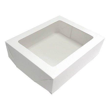 Caixa 12 Visor (Branca) (15x12x4 cm) 10unid Embalagem Janelar