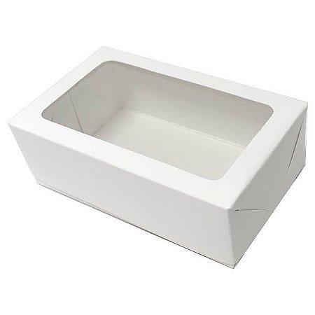 Caixa 6 Visor (Branca) (12x7.5x4 cm) 10unid Caixa para Docinhos