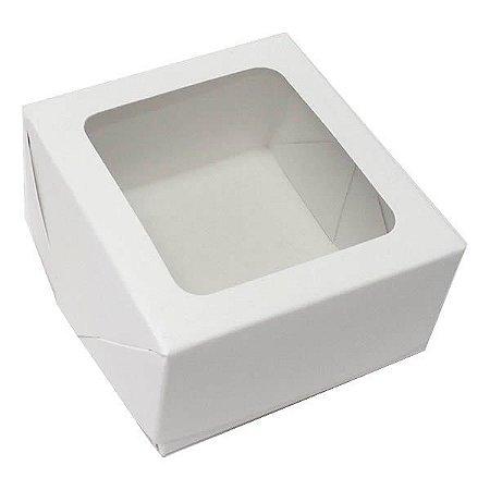 Caixa 4 Visor (Branca) (8x7.5x4 cm) 10unid Caixinha com Janela Visor