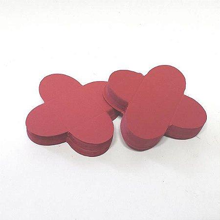 Forminha de Papel Vermelha (3.5x3.5x2.5 cm) 100unid Doces