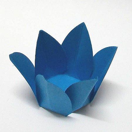 Forminha de Papel Flor Azul Royal (2.3x2.3x3 cm) 100unid Brigadeiros