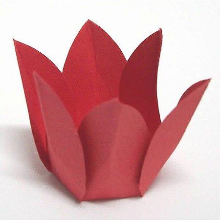 Forminha de Papel Flor Vermelha (2.3x2.3x3 cm) 100unid Doces