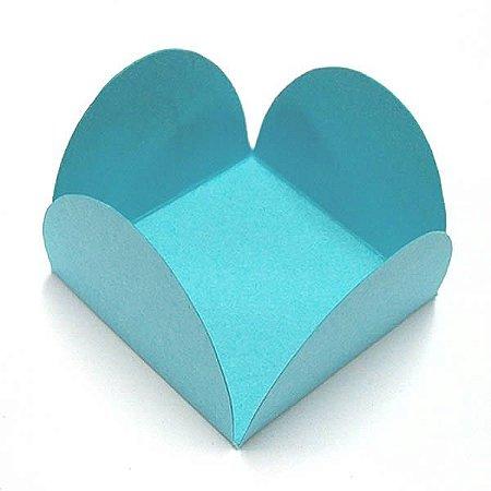 Forminha de Papel Azul Turquesa / Tiffany (3.5x3.5x2.5 cm) 100unid