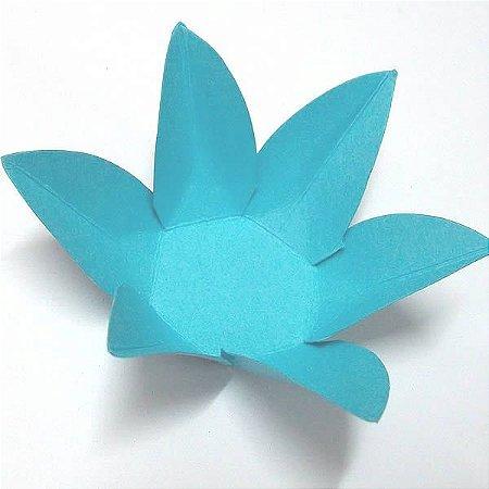 Forminha de Papel Flor Azul Turquesa / Tiffany (2.3x2.3x3 cm) 100unid