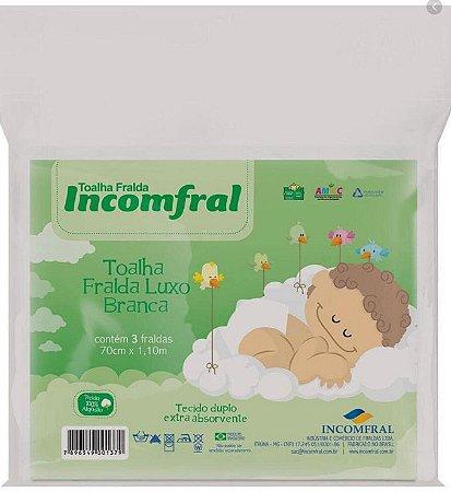 Toalha Fralda Luxo Incomfral 0100330404 - 03 UND