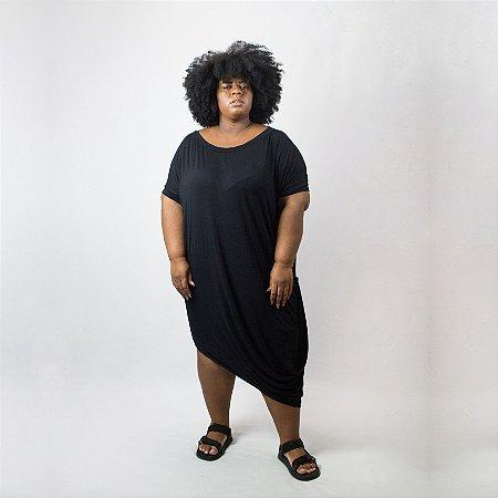 Macacão pimpão preto plus size