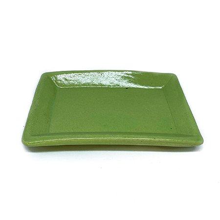 Mini Travessa  Retangular Drops - verde