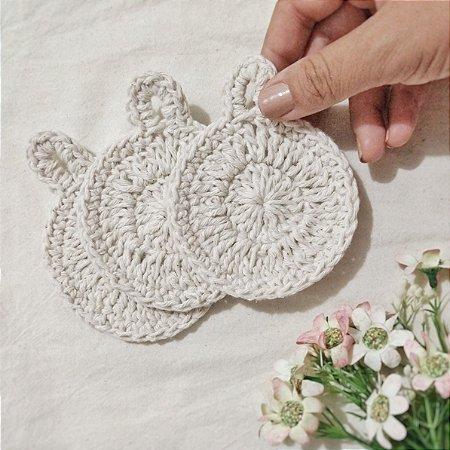 Ecopads crochê pack com 3