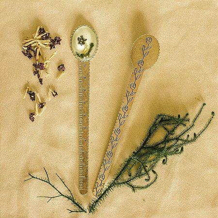 Marcador de Páginas / Régua - Verbena e Cipreste