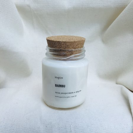 Vela perfumada de Bambu tampa de cortiça M