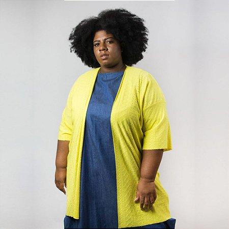 Kimono Laise Malha Amarelo