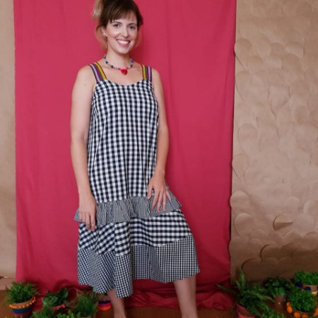 Vestido Mix Vichy