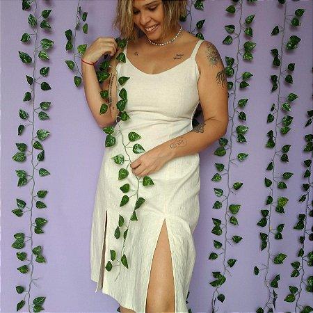 Vestido Linho Fendas