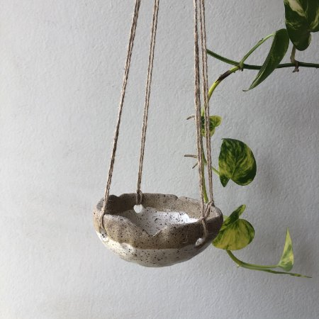 Vaso suspenso cerâmica branco