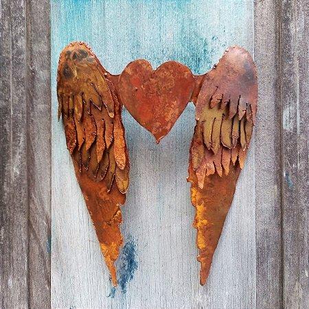 Coração alado - de parede