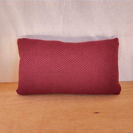 Capa de almofada em tricô   vinho (50x25cm)