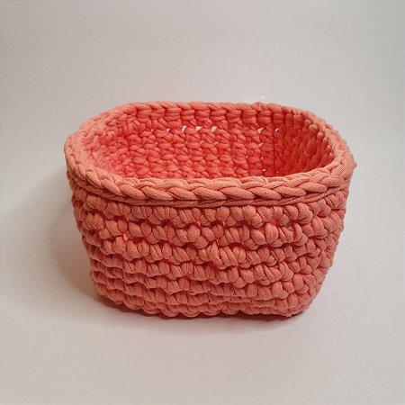 Cachepô rosa quadradinho