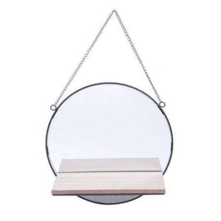 Espelho Geometrik Redondo com Prateleira