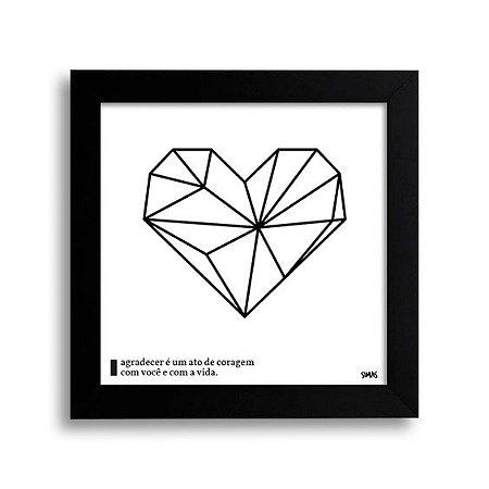 Placa Decorativa Coração